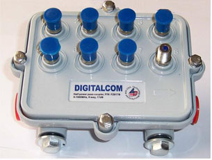 Taps taps troncal 2 4 8 vias 5 1000 mhz catv taps for Amplificador tv cable coaxial